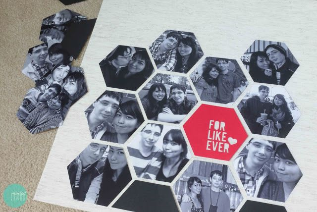 What Can You Do With A Print? Make a Beehive-Pattern Photo Display! @ mintedstrawberry.blogspot.com #Shutterfly #Looksi  #DIYphotoProject