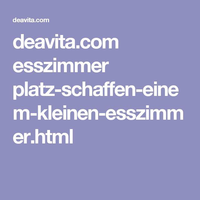 deavita.com esszimmer platz-schaffen-einem-kleinen-esszimmer.html ...