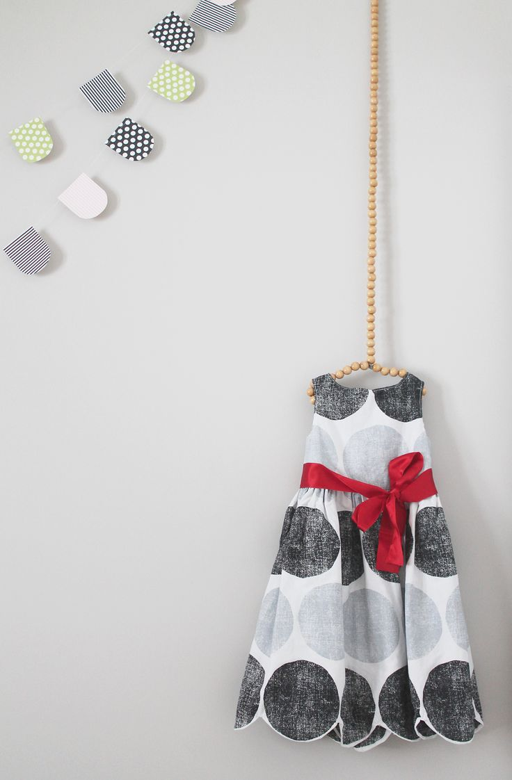 DIY hanger made out of wooden beads