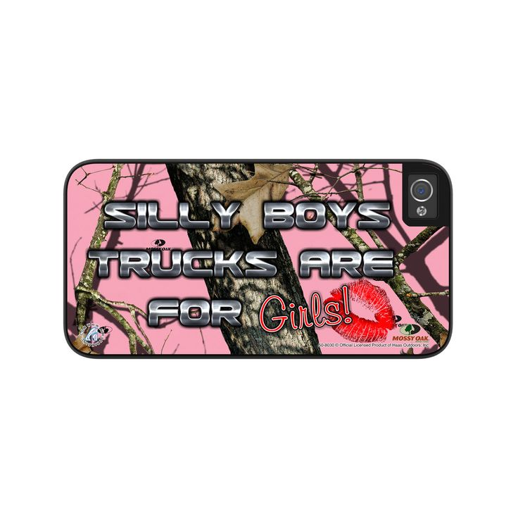Airstrike® Pink Camo Phone Case Silly Boys Trucks are for Girls Camoflauge iPhone 5 Case, Mossy Oak Pink iPhone 5s Case, Protective Phone Case-50-8030