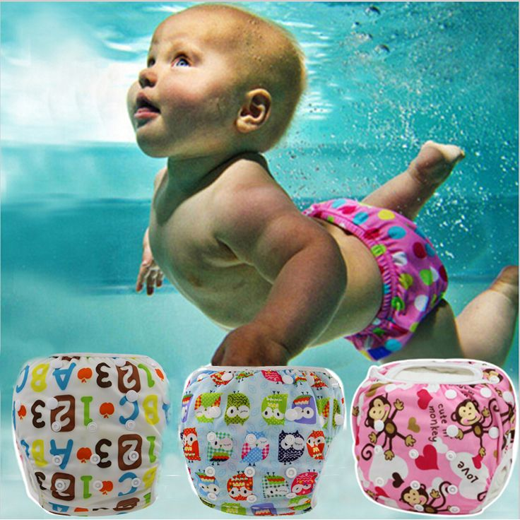 Unisex One Size Waterproof Adjustable Swim Diaper Pool Pant 10-40 lbs Swim Diaper Baby Reusable Washable Pool Cover 30 Color