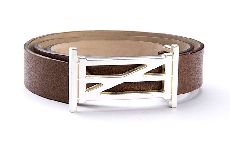 Equestrian Belt in Brown Buffalo Leather | Oughton Limited