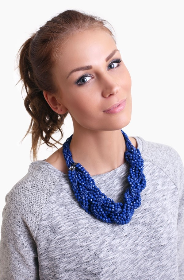Second Female - Noa Necklace Electric Blue