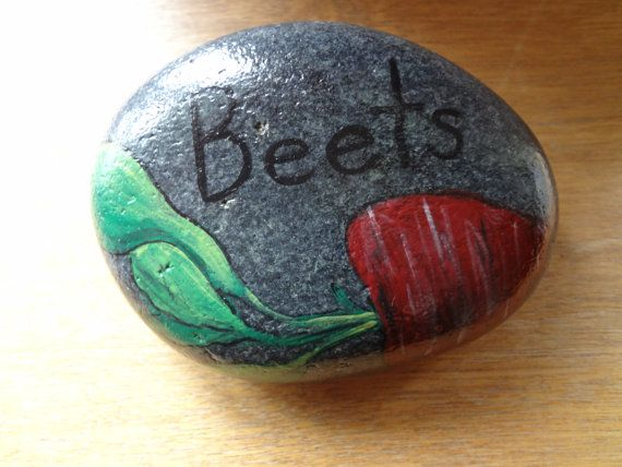 95 best images about rocks food on pinterest gardens - Hand painted garden stones ...