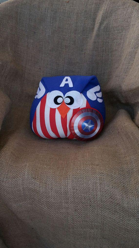 capitan america, owl, pillow, gufo cuscino supereroi, cap