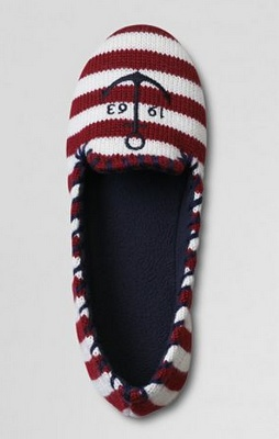 Lands End Nautical Slippers
