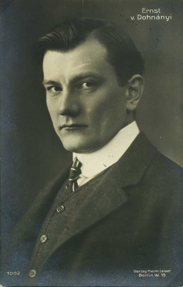Ernõ Dohnányi (1877 - 1960) - One can argue for composer conductor, pianist, and teacher Ernõ Dohnányi as the great architect of Hungarian musical life in the twentieth century. As a pedagogue, he set high standards while a member of the piano and composition departments (and later as the director) of the Budapest Academy, where he and Béla Bartók had been friends and classmates.