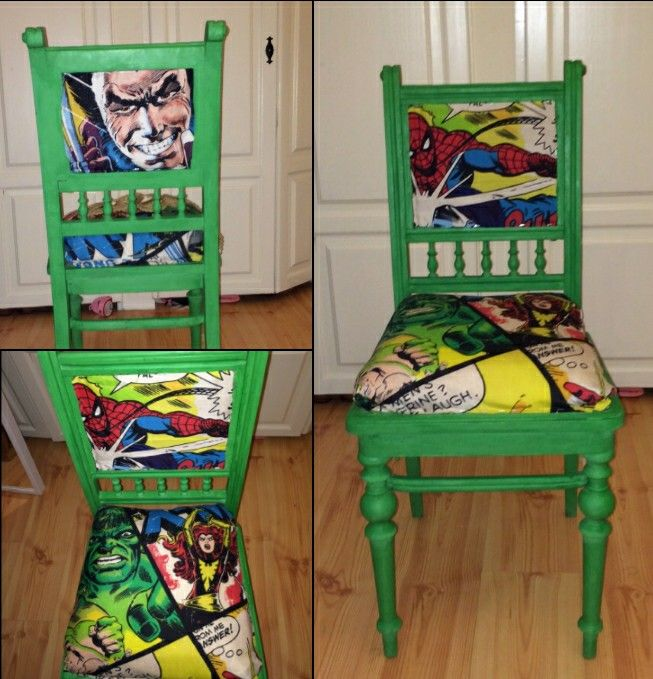 Marvel comics dining chair