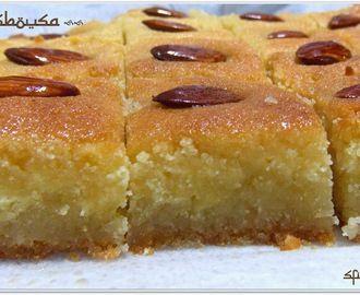 Ricetta dei Basbousa - un dolce che parla arabo - senza latticini e senza uova