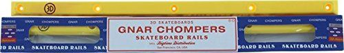 3D Gnar Chompers Yellow Skateboard Rails