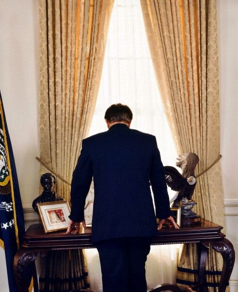 bartlet for america - beautiful take on the classic JFK photograph