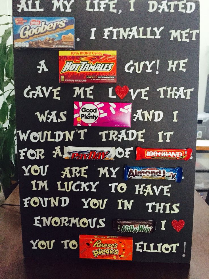 Created My Own 2nd Anniversary Candy Message Board For My