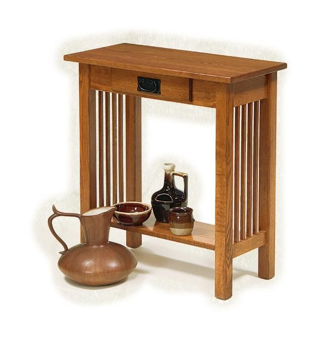Amish Mission Hall Console Table Craftsman Collection This Handsome Mission Hall Table Is The Perfec Hall Console Table Small Console Tables Foyer Decorating
