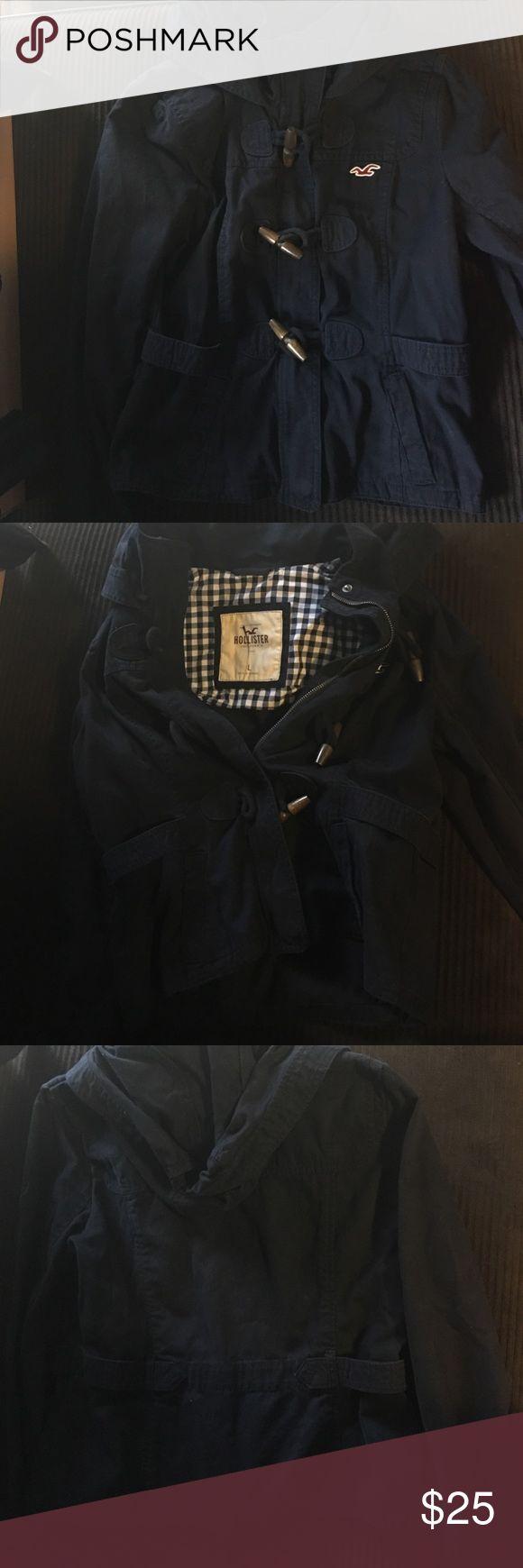 Hollister  Dark Blue Jacket Great shape Hollister jacket Hollister Jackets & Coats Utility Jackets