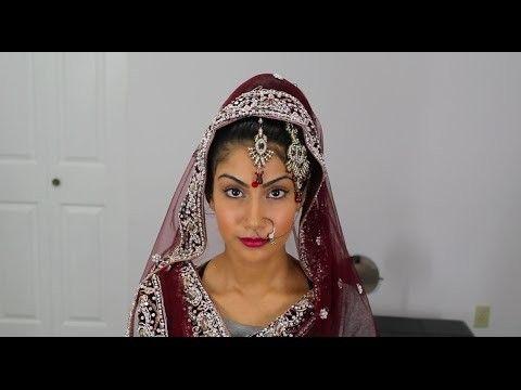 Schöne einfache Frisur für indische Hochzeit Schritt für Schritt
