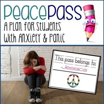 """The """"Peace Pass Program is a Classroom Anxiety ManagementSystem for counselors or teachers to use with students suffering with"""