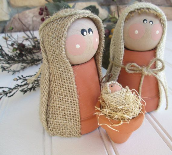 nativity set clay nativity nativity scene por whimsysweetwhimsy                                                                                                                                                                                 More