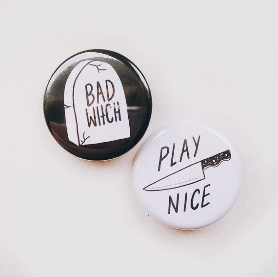 BAD WITCH BADGES