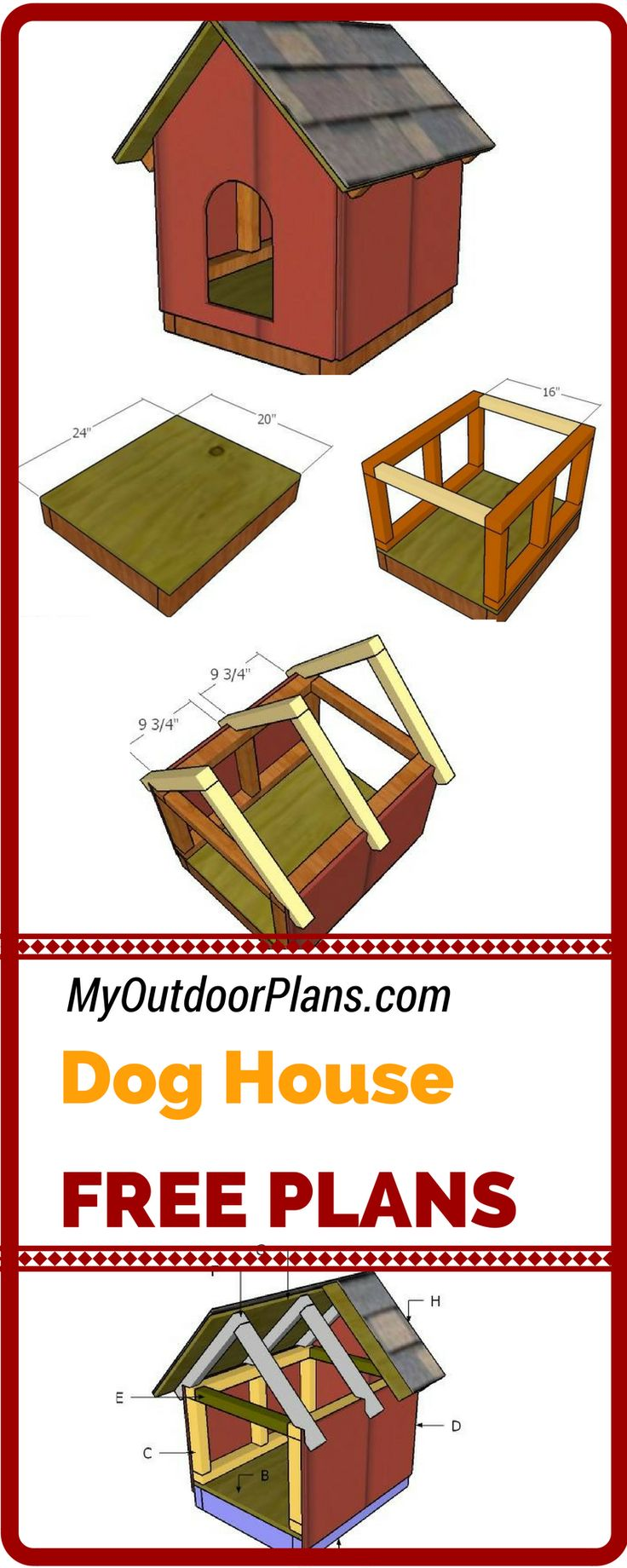 25 best small dog house trending ideas on pinterest for Dog kennel floor plans