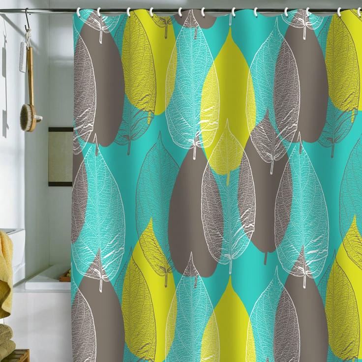 Aimee St Hill Big Leaves Blue Shower Curtain: Window Curtains, Big Leaves, Blue Shower Curtains, Hill Big, St. Hill, Deni Design, Design Home, Aim St., Leaves Blue