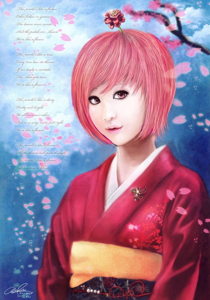 Cyu Fanart The Flower Girl by Zamboze