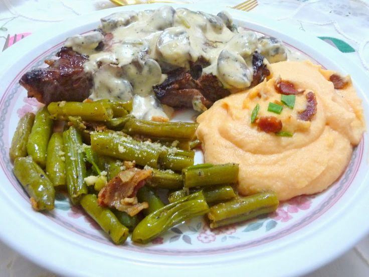CARBING BY JENNIFER ELOFF: RIB-EYE STEAK WITH MUSHROOM SAUCE - Steaks ...