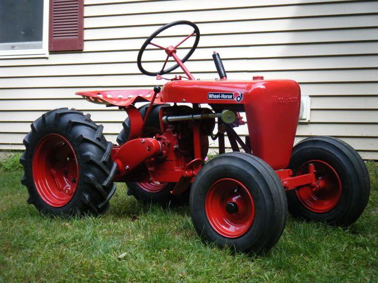 Mini Wheel Horse Tractor : Best vintage garden tractors lawn mowers images on