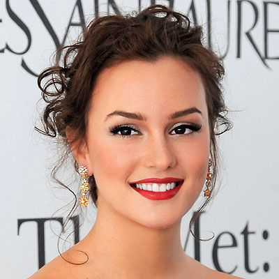 red-lips: Red Lipsticks, Flawless Makeup, Bridal Hairstyles, Celebrity Wedding, Makeup Looks, Wedding Makeup, Wedding Hairstyles, Leighton Meester, Prom Makeup