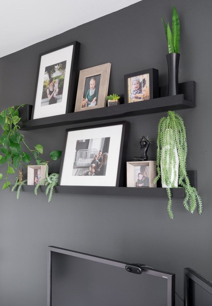 Diy Photo Ledge Shelves Inspired By Ikea S Mosslanda Line Wall