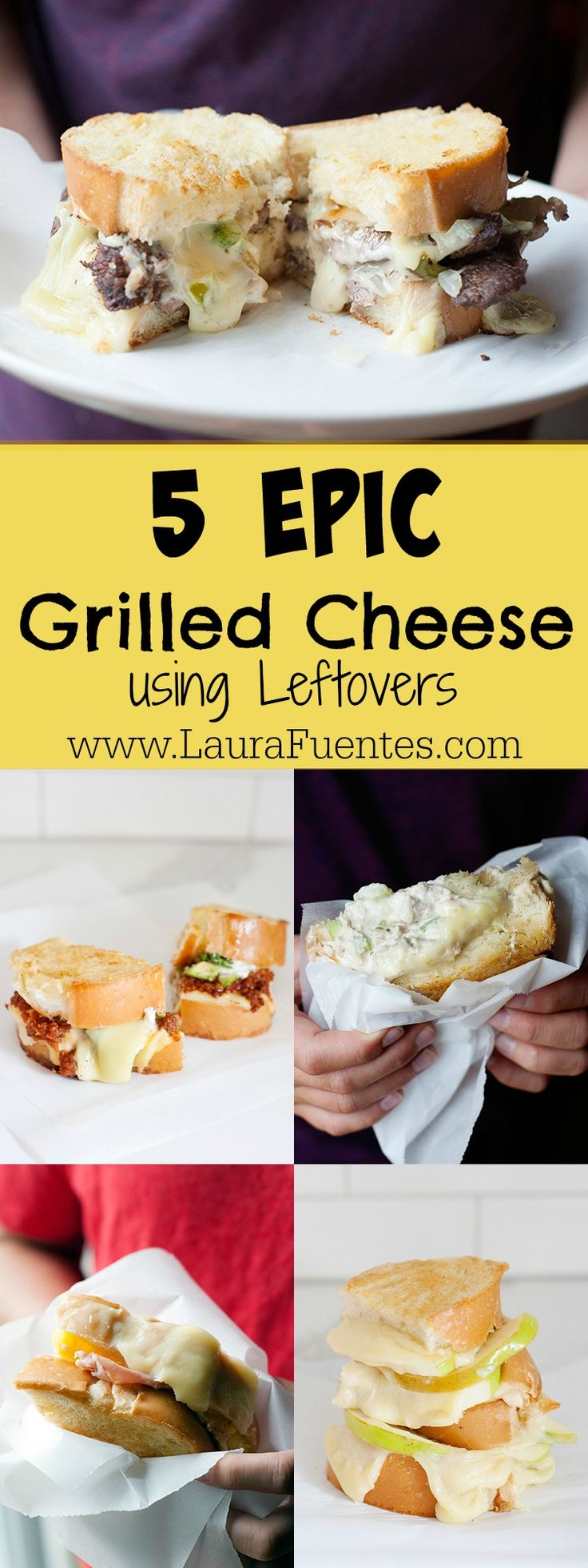 These ultimate grilled cheese sandwiches are the perfect back-to-school dinners because they revamp leftovers into a cheesy meal everyone loves! #ad @landolakesktchn