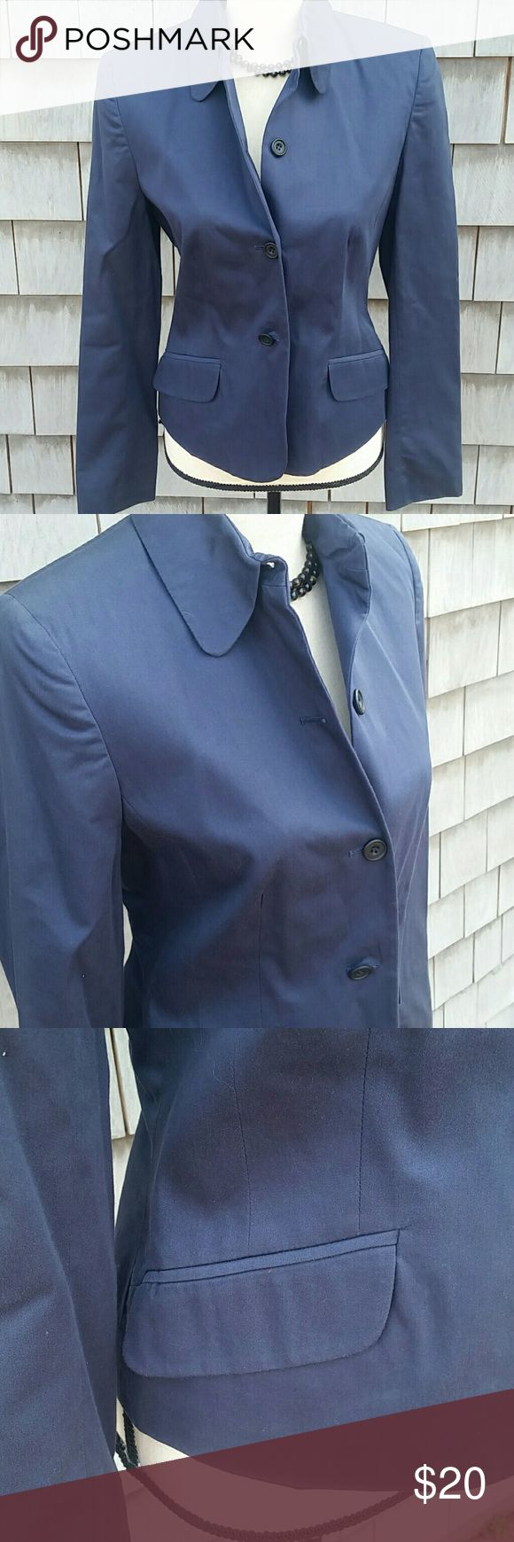 French Connection Navy Blazer Gorgeous navy blue all cotton fully lined tailored Blazer. Like new no rips or stains just beautiful French Connection  Jackets & Coats Blazers