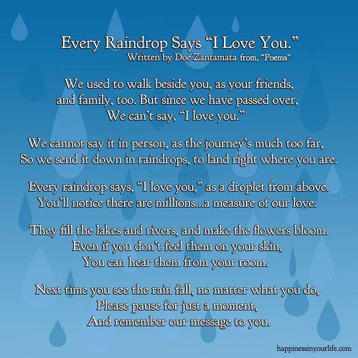 "Every Raindrop Says ""I Love You."""