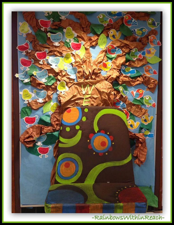 "could do  a tree like this labeled ""knOWLedge""  tree and each owl mention things we will learn this year 200  Back to School Bulletin Boards and Decorated Classroom Doors!"