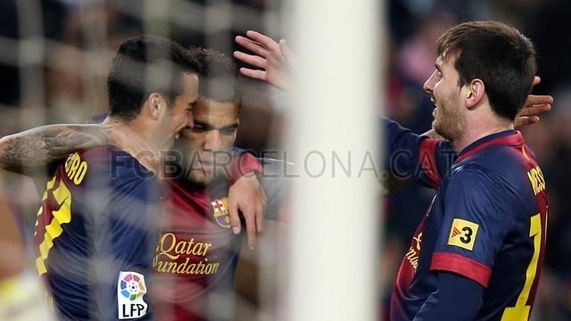 Pedro, Dani & Lio, FC Barcelona | FC Barcelona 5-1 Osasuna. 2013-01-27.