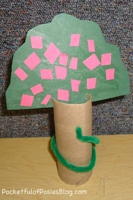Apple Tree Snake Craft (Adam Eve); link doesn't work; visual inspiration