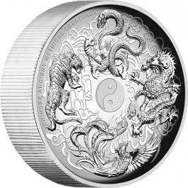@PerthMint will release no more than 1,000 of the 2015 #Chinese Ancient Mythical Creatures 5oz #Silver Proof High Relief #Coin. Each coin is housed in a classic display case within an illustrated shipper and accompanied by a numbered Certificate of Authenticity.