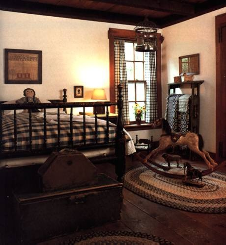145 best primitive colonial bedrooms images on pinterest for Colonial bedroom ideas