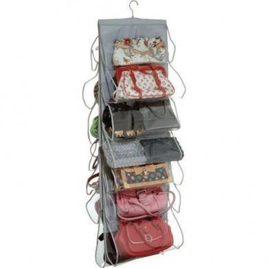 Howards Storage World   Handbag Holder Silver