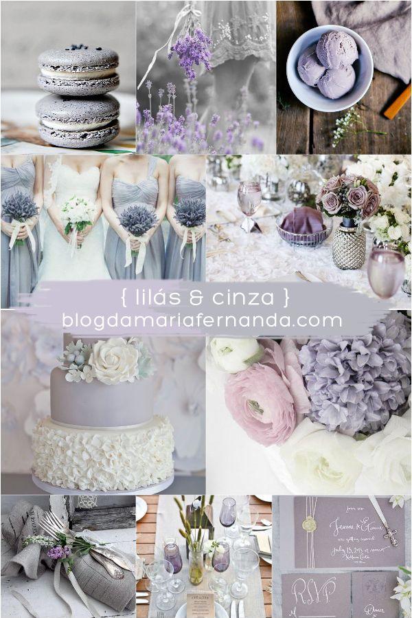 Decoração de Casamento : Paleta de Cores Lilás e Cinza | http://blogdamariafernanda.com/decoracao-de-casamento-paleta-de-cores-lilas-e-cinza