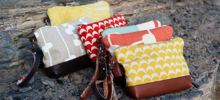 Leather & fabric wristlets