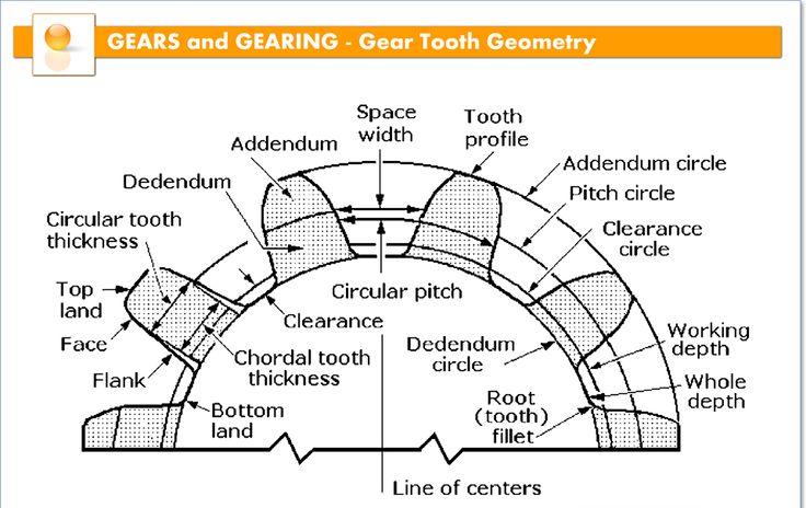 Gear tooth geometry.