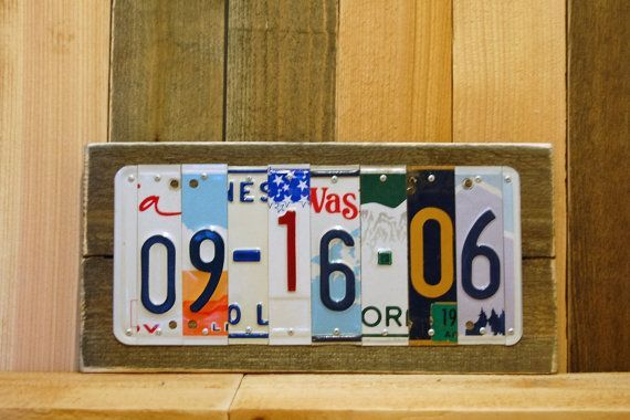 5th 10th 20th 25th Custom Date Anniversary Gift for Him or Her Aluminum Tin Wedding Anniversary Date License Plate Sign Last Minute Gift