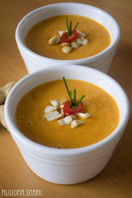 Tajska zupa z maslem orzechowym