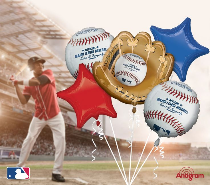 Take me out to the ballgame!  Anagram Balloons has foil balloons for all of your sports related party needs from MLB, NFL, NHL, NBA and more Baseball balloons baseball parties