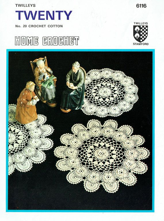PDF Vintage Heirloom ROSE Doily Irish Crochet Pattern Twilleys