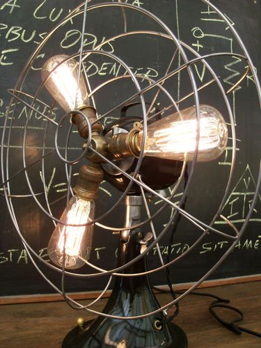 Floor Fans With Light : Images about steampunk lamps on pinterest steam