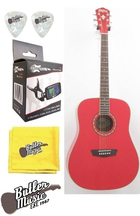 Washburn Apprentic WD10R Dreadnought Size Acoustic Guitar w/Effin Tuner  More