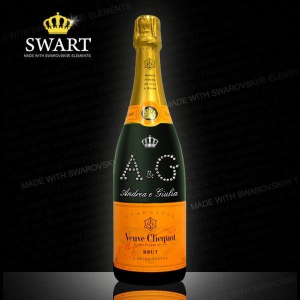 Champagne Clicquot personalizzabile con le vostre iniziali.