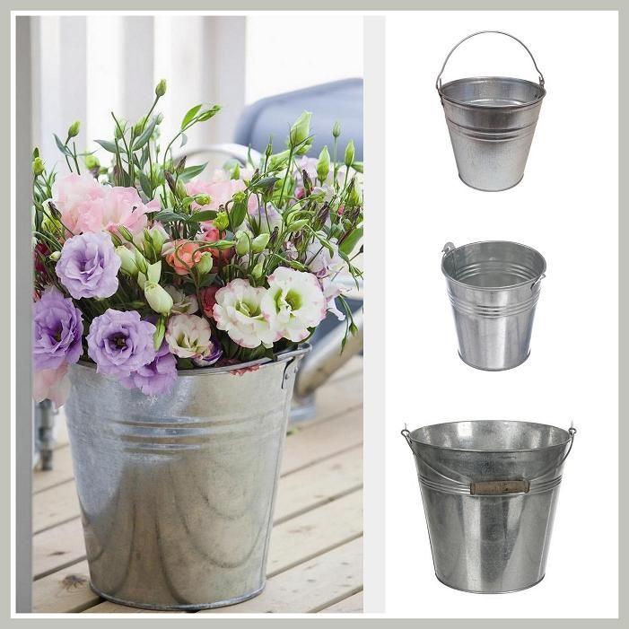 Cubos de zinc para flores decoraci n vintage decoraci n - Macetas originales para plantas ...