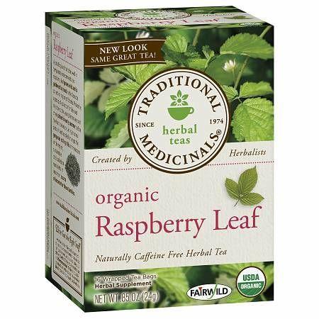 Traditional Medicinals Caffeine Free Organic Herbal Tea Raspberry Leaf - 0.05 oz.